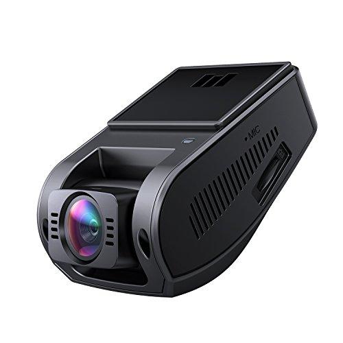 AUKEY Telecamera per Auto 4K Dash Cam Grandangolare con Super-Condensatore HDR Video Camera per Auto con Registrazione in Loop G-Sensore e Caricatore USB da Auto a 2-Porta