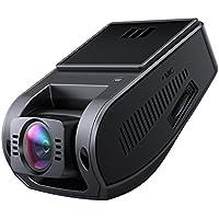 AUKEY Cámara Coche 4K HD Dash Cam Gran Ángulo, Supercondensateur, HDR Visión Nocturna Dashcam con G-Sensor, Loop de Grabación y Cargador de Coche con Doble Puerto