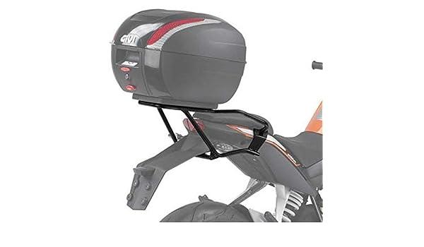 de Chargement 3 kg Piaggio Vespa PX 125//150-ann/ée de Fabrication capacit/é Max Givi SR5603 Support de Valise Top Case Monolock Noir Plaque 11