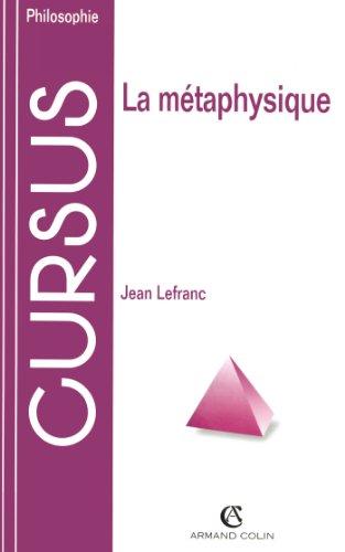 La métaphysique par Jean Lefranc