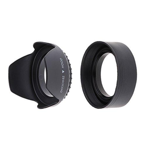 kokiya Kamera Gegenlichtblenden Faltbarer W/Reversible Tulip Flower Set Mit 2 Stü - 52mm 1 Collapsible Rubber Lens