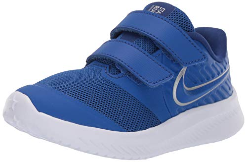 Nike Unisex Baby Star Runner 2 (TDV) Sneaker, Blau (Game Royal/Metallic Silver 400), 23.5 EU