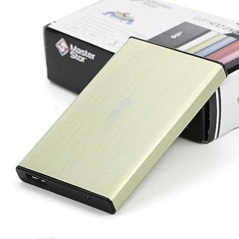 MasterStor 1 an garantie 160 Go disque dur Portable USB 3.0 disque dur ultra rapide pour Windows, Mac Book et Mac disque dur externe lecteur portable jaune (160GB)