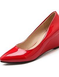 GGX  Mujer   Para Niña-Tacón Cuña-Cuñas   Tacones-Tacones-Oficina y Trabajo    Vestido   Casual-Semicuero-Negro   Rojo   Almendra  8c983a0dc289