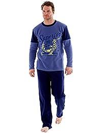 28db286aec6ca Ensembles de pyjama polaire Harvey James Warm pour hommes, vêtements de  détente thermiques