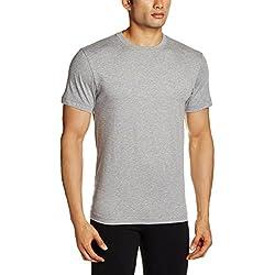 Jockey Men's Cotton T-Shirt (8901326103661_2714_XXL_Grey Melange)