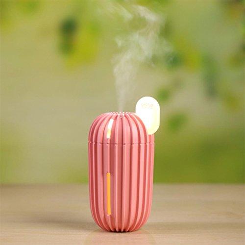 Honeywell Ganze Haus Luftbefeuchter (wuayi 200 ml USB LED Licht Befeuchten Kaktus Hause Aroma Luftbefeuchter Diffusor Luftreiniger Zerstäuber (Rosa))
