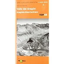 Mapa Valle del Aragón - aragues-aisa-canfranc - pirineo aragones (Top 25 (prames))