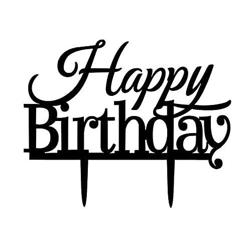 Befaith Joyeux anniversaire Party Cake Topper Acrylique Cupcake Stand pour Birthday Party Cake Decor