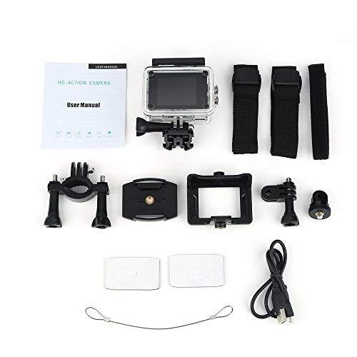 JesseBro76 SJ5000 Action Kamera HD Full 1080P 30m wasserdicht 2,0 Zoll Bildschirm Sport Cam rot Wide-format Lcd