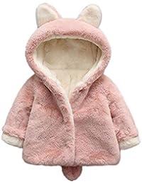 Infantil bebé Otoño Invierno Abrigo,Recién Nacido bebé niñas Abrigo con Capucha cálida Gruesa Lana Capa Chaqueta Ropa bebé por Venmo