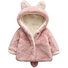 Infantil bebé Otoño Invierno Abrigo,Recién Nacido bebé niñas Abrigo con Capucha cálida Gruesa Lana