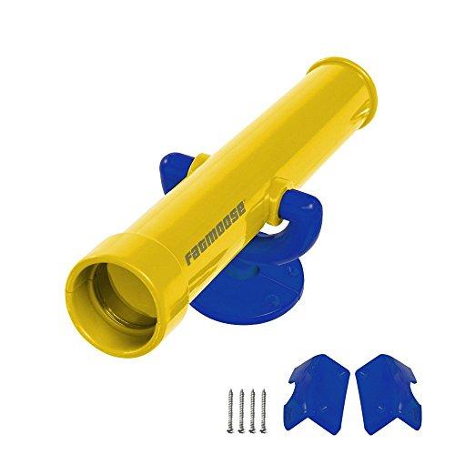 FATMOOSE Teleskop SpecialSpy Kinder Fernglas Fernrohr, gelb, L305mm, Ø60mm, PE-Kunststoff
