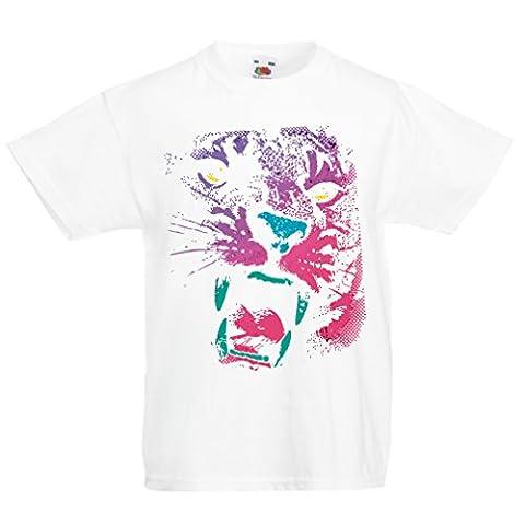 Maman Papa Fille Halloween - T-shirt pour enfants Le tigre! (9-11 years