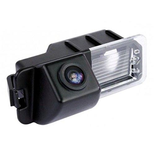 Akhan CAM06-6 - Farb Rückfahrkamera, Einparkhilfe, Kamera für Nummerschildbeleuchtung, Kennzeichenbeleuchtung