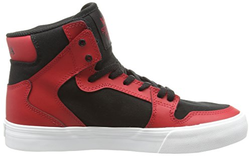 Supra Kids Vaider, Sneakers Hautes mixte enfant Rouge (Red/Black/White)