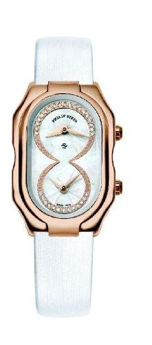 Philip Stein - 14RG-IDW-IW - Montre Femme - Quartz Analogique - Cadran Blanc - Bracelet Cuir