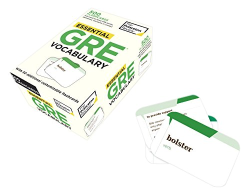 Essential GRE Vocabulary (flashcards): 500 Flashcards with Need-to-Know GRE Words, Definitions, and Terms in Context (Graduate School Test Preparation)