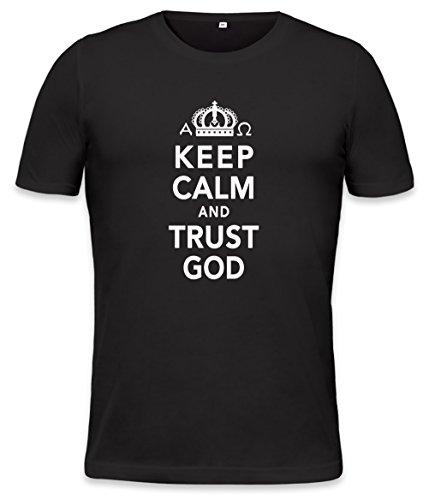 Keep Calm And Trust God Mens T-shirt