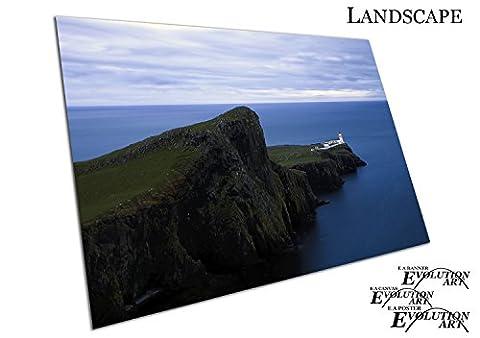 Küche & Badezimmer Banner Leuchtturm Glendale Isle of Skye Schottland - A4 Print Only