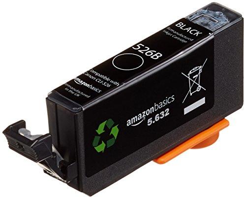 Preisvergleich Produktbild AmazonBasics - Wiederaufbereitete Tintenkartusche für Canon CLI-526, Foto Schwarz