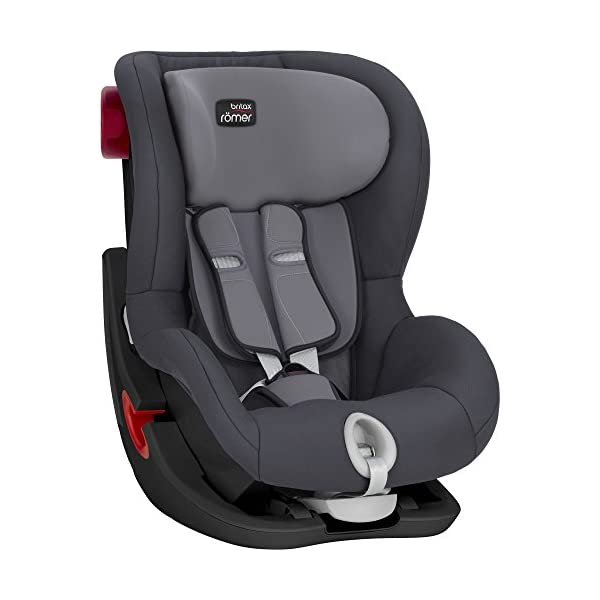 Britax Römer car seat 9-18 kg, KING II BLACK SERIES, group 1, Storm Grey Britax Römer Easy installation - with tilting seat and patented seat belt tensioning system Optimum protection - performance chest pads, deep, padded side wings 4