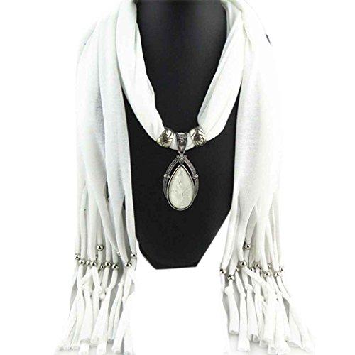 LUFA Woman's Long Pendant Shawl Scarf Necklace Scarf Lady Tassel Warm Scarves