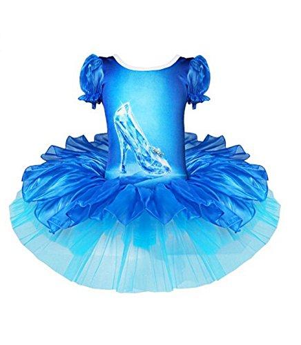 Jastore® Kinder Mädchen Prinzessin Kostüm hübsche Schuhe Ballett Kleid Cosplay Tanzkleid Tüllrock (M/ 4-5 Jahre)