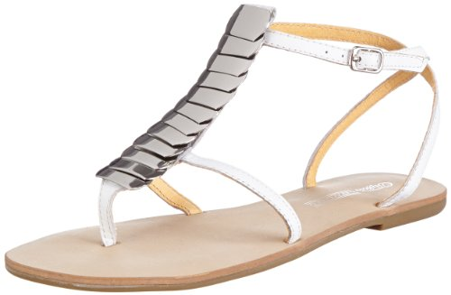 Buffalo London 312-2184 SILK 143630, Damen Sandalen, Silber (WHITE 17), EU 41