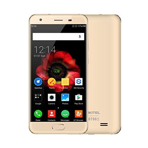 """Oukitel K4000 plus Smartphone Débloqué 4G 5.0"""" HD IPS Écran (Android 6.0, 4100mAh Grand Capacité, 8 MP+2 MP Appareil Photo Avec Flash, 16Go ROM, MT6737 Quad Core 1.3 GHz, Double SIM) - Or"""