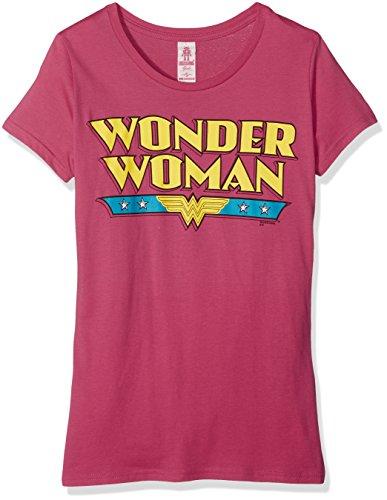 Wonder Shirt T Mädchen Woman Kostüme (Logoshirt Mädchen T-Shirt Dc-Wonder Woman-Logo Rosa-Pink,)