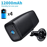 SDETER 1080P Wireless Camera, 12000mAh Rechargeable Battery Built-in, WiFi IP Home Security CCTV Weatherproof System, Night Vision Motion Detection for Outdoor Indoor