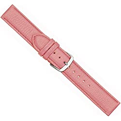 Beach Replacement Band Watch Band Leather Kalf pink 20443S, width:28mm