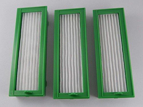 Preisvergleich Produktbild vhbw Ersatz Hepa Allergie Filter Set (3x) für Staubsauger Vorwerk Kobold VR200, VR-200.