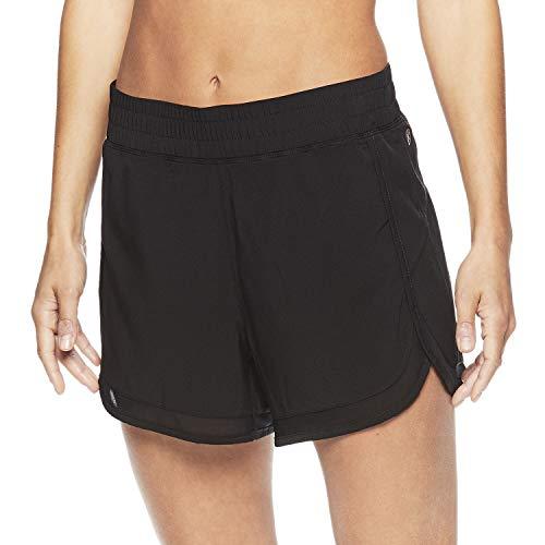 Gaiam Damen Warrior Yoga-Shorts - Bike & Running Activewear Shorts mit Taschen - schwarz - Klein