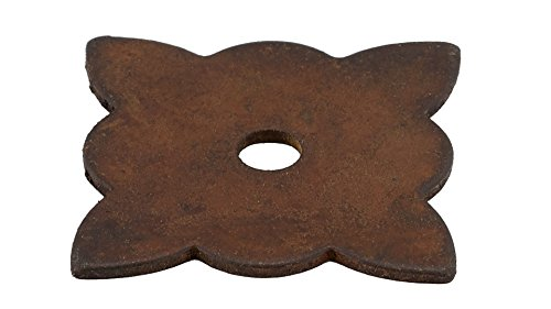 Richelieu Hardware–bp213635800–Traditionelle Eisen Rosette für Knauf–213–Rost-Finish (Backplate Richelieu)