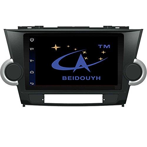 BEIDOUYH CVD92033 Android 9 Zoll Auto Stereo GPS Navigation für TOYOTA Highlander 2009-2014 Wireless Bluetooth AM / FM Radio Unterstützung DVR / OBD2/Lenkrad Steuerung
