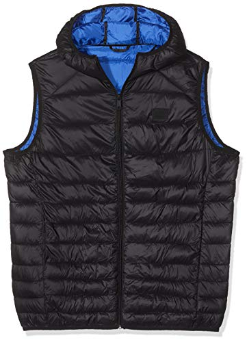 JACK & JONES Herren Jjebomb Body Warmer Hood Outdoor Weste, Schwarz (Black Black), Large (Herstellergröße: L)