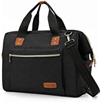 Baby Nappy Changing Bag, Large Baby Diaper Changing Bag for Mum/Dad, Hospital Maternity Bag with Changing Mat, Insulated Bottle Bag and Stroller Straps by Double Elite, Black