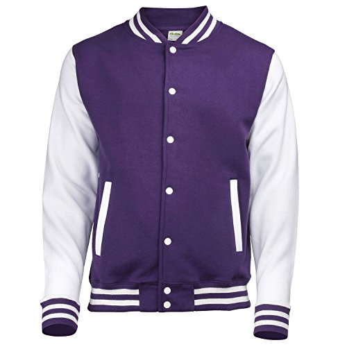 AWDis Herren Jacke Mehrfarbig - Purple/white