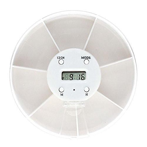MMRM despertador de medicación de alarma 7 compartimentos Electronic horas Caja 5 Alarmas temporizado equipo médico