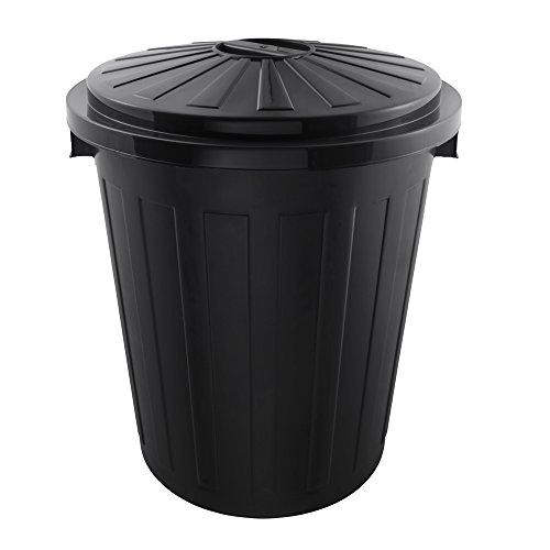 keeeper Poubelle Universelle avec Couvercle Hermétique, Plastique Robuste (PP), Super-Maxi Taille, 50 L, Mats, Graphite