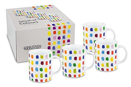 Könitz 11 5 002 1208 Tasse Splash of Colours, 4-teilig Set