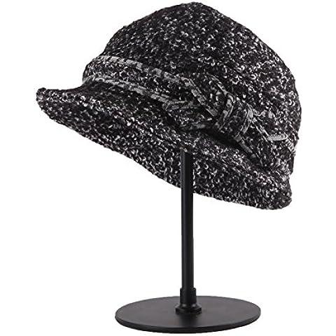 Autunno/Inverno moda graduazione prom Hat cappelli di alta qualità panno di lana qualità Hat cappello per il sole,Nero