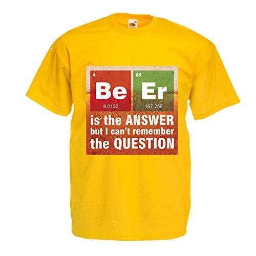 n4520-manner-t-shirt-das-bier-ist-die-antwort-xxx-large-gelb-mehrfarben