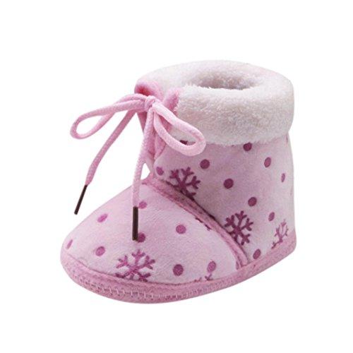 chaussures bébé Tout-petit de Noël neige Imprimer doux Bottes Sole Prewalker chaudes