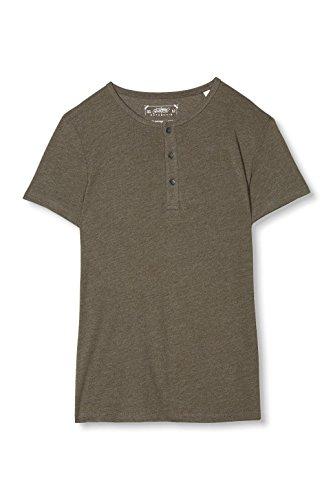 ESPRIT Herren T-Shirts 996EE2K902 Grün (DARK KHAKI 355)
