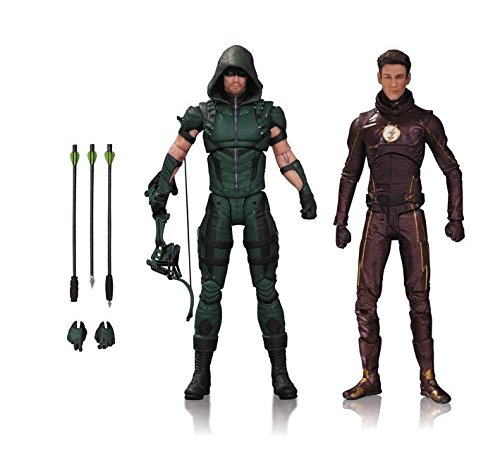 DC Sammlerstücke TV: Arrow & The Flash Action Figur (2 Pack) (Ersatz Tv Steht)
