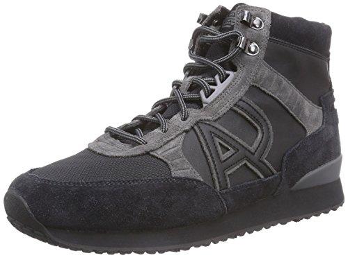 Armani Jeans Shoes & Bags DEB651385 - Sneaker alta uomo , Nero (Schwarz (NERO - BLACK)), 44