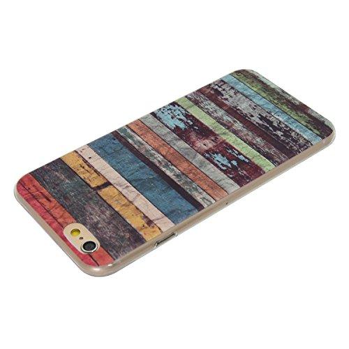 iPhone 6/6S 4,7 Coque, Voguecase TPU avec Absorption de Choc, Etui Silicone Souple Transparent, Légère / Ajustement Parfait Coque Shell Housse Cover pour Apple iPhone 6/6S 4,7 (fleur bleue 06)+ Gratui motif tribal
